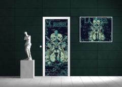 Groene Fotobehangart Deursticker Muursticker Alchemy, Gothic | Groen | 91x211cm