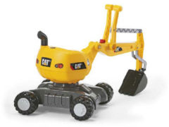 Gele Rolly Toys graafmachine RollyDigger Cat junior geel