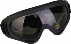 Faas Commerce Skibril - Snowboardbril - UV protected - Verstelbare Ski/Snowboard bril - Unisex - Grijs glas
