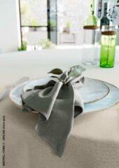 Donkergrijze Mistral Home - set van 4 servetten - katoen polyester - 43x43 cm - donker grijs