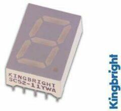 Gele 13mm SINGLE-DIGIT DISPLAY GEMEENSCHAPPELIJKE CATHODE GEEL - Kingbright