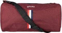 Bordeauxrode Merkloos / Sans marque Donkerrode Sporttas- 45 cm- ook geschikt als handbagage