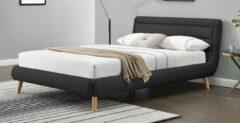 Home Style Tweepersoonsbed Elanda 140x200cm in donkergrijs