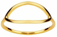 Juulry Goud Plated Ovale Ring