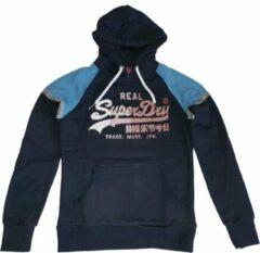 Superdry stevige zachte donkerblauwe sweater hoodie - Maat S