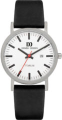 Zilveren Danish Design watches titanium herenhorloge Rhine White Black Date Large IQ12Q1273