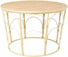 Naturelkleurige Xenos Rotan salontafel/bijzettafel - ⌀60x36 cm
