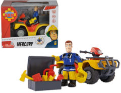 Rode Simba-Dickie Brandweerman Sam Quad Mercurius - Speelfigurenset