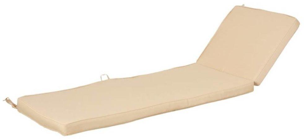 Afbeelding van Esschert design Chaise Longue kussen 138 x 44 cm beige MF024