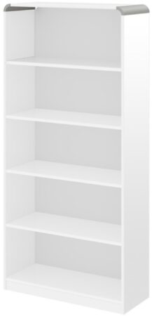Afbeelding van Hubertus Meble Open Boekenkast Murano 190 cm hoog in hoogglans wit
