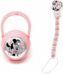 Roze Disney Baby brooch + case Minnie Pink