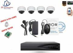 Witte Home-Locking camerasysteem met bewegingsdetectie en NVR 2.0MP H.265 POE en 4 binnen camera's 2.0MP CS-4-1402D