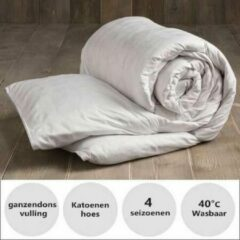 Witte Dekbed - Wellbed Supreme - 4 seizoenen - ganzendons - 1 persoons - 4 seizoenen - Anti Allergie - 140x220 cm