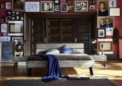 Rusticia ApS Bett Eiche massiv versch.... 160 x 200 cm, Eiche Dirty Grey