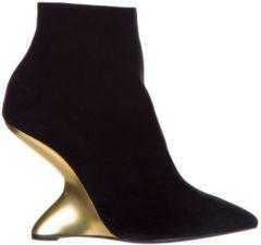 Nero Salvatore Ferragamo Stivaletti stivali donna con tacco in pelle bolgheriv