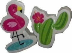 Lg-imports Gum Flamingo & Cactus Roze/groen