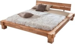 Möbel Ideal Bett 140x200 in Kernbuche massiv geölt