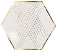 Gouden Kartonnen borden - Blanc - Harlow & Grey - 20cm - 8 stuks