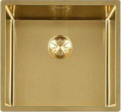 Gouden Lorreine Royal series spoelbak 40x40cm gold