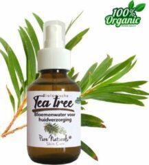 Teatree water 100 ml | Tea tree Hydrolaat | 100% Puur | Biologisch | Roomspray | Bodyspray | Gezichtstonic | Huidverzorging | Pure Naturals