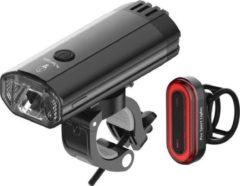 Rode 1200 Lumen & 100 Lumen Pro Sport Lights fietsverlichtingsset - LED Fietslampen USB oplaadbaar