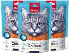 Wanpy | Soft Chicken Jerky Strips for Cat voordeelbundel van 3 zakjes | Kip | Kattensnack
