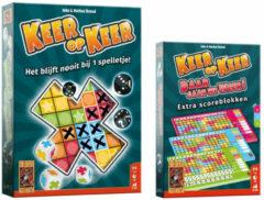 Merkloos / Sans marque Spellenset - 2 delig - Keer op Keer - Dobbelspel & Scoreblok 3 stuks Level 5, 6 en 7