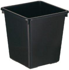 Vepabins Papierbak vierkant Taps 36 cm Zwart