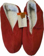 Hytex Fashion Spaanse slof - Velours leder - Maat 38 - Rood