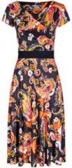 Feminines Kleid ANNIKA mit stilvollem Allover-Muster Nicowa black coral azalea