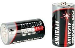 Ansmann Alkaline Baby C Batterien, 1,5 Volt, besonders lange Lebensdauer, 2 Stück