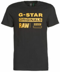 Zwarte T-shirt Korte Mouw G-Star Raw COMPACT JERSEY O