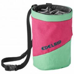 Edelrid - Chalk Bag Splitter Twist - Pofzakje maat One Size, roze/groen/zwart