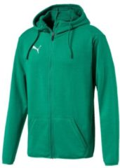Sweatjacke Liga Casuals Hoody Jacket 655771-02 mit dryCELL-Technologie Puma Pepper Green-Puma White