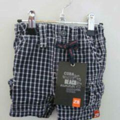 Marineblauwe Z8 geruite shorts marine mt 56