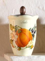 Nostalgischer Vorratsbehälter mit Kürbisdekor Nuova Ceramica Artisan mehrfarbig
