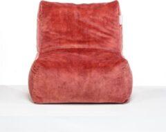 Laui lounge Velvet - Volwassen Zitzak - Indoor - Blush, Roze - 68 x 68 x 74 x 34 cm