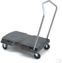 Triple trolley, Rubbermaid zwart, grijs