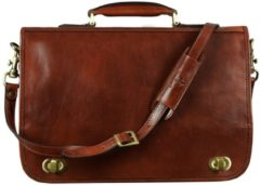 Bruine Alaabouch X Time Resistance Leren Briefcase - ILLUSIONS