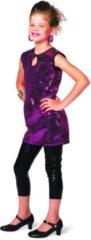 Wilbers Gala jurkje meisje met paarse pailletten Maat 128