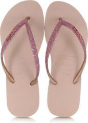 Roze Havaianas Slim Glitter Dames Slippers - Ballet Rose - Maat 39/40