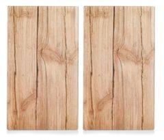 Zeller Present Herdabdeck-/Schneideplatten »Wood«, 2-er Set, 30 x 52 cm