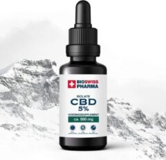 Bio Swiss Pharma CBD Olie - CBD - CBD Isolaat 5% - Cannabidiol - Vegan - Bio Oil - Etherische Olie - Raw - Hennep - Wiet - Planten - Pipet - Vitamine - Honden - Katten - BioSwissPharma - MyCell Enhanced Technology® - 10ML - 200 Druppels