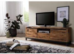 TV-Board VILLANDERS Massivmoebel24 tabacco brown