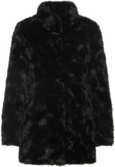 Zwarte Vero Moda Vmcurl High Neck Faux Fur Jacket No Faux Fur Black