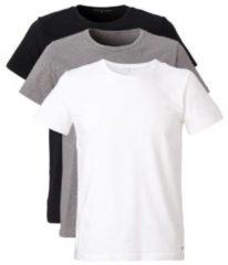 Grijze Tommy Hilfiger 3-Pack T-shirts Crew-Neck Premium Essentials Wit, Grijs, Zwart