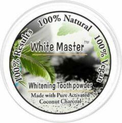 Zwarte Whitemaster Whitening Tooth Powder   100 % Natural   Teeth Whitening   Vegan   Tandbleekmiddel   Tanden Bleken   Charcoal Poeder