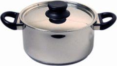 Zilveren Mammoet Kookpan met deksel Cottage 24 cm 6 l Roestvrijstaal