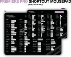 Zwarte Worksmarter Adobe Premiere Pro Shortcut Mousepad - XL - Mac
