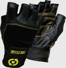 Scitec Nutrition Scitec - Trainingshandschoenen - Unisex -Workout Gloves - Yellow Leather Style - S
